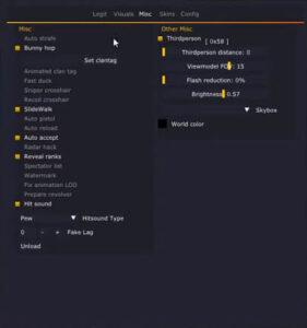 latest Osiris hack menu client